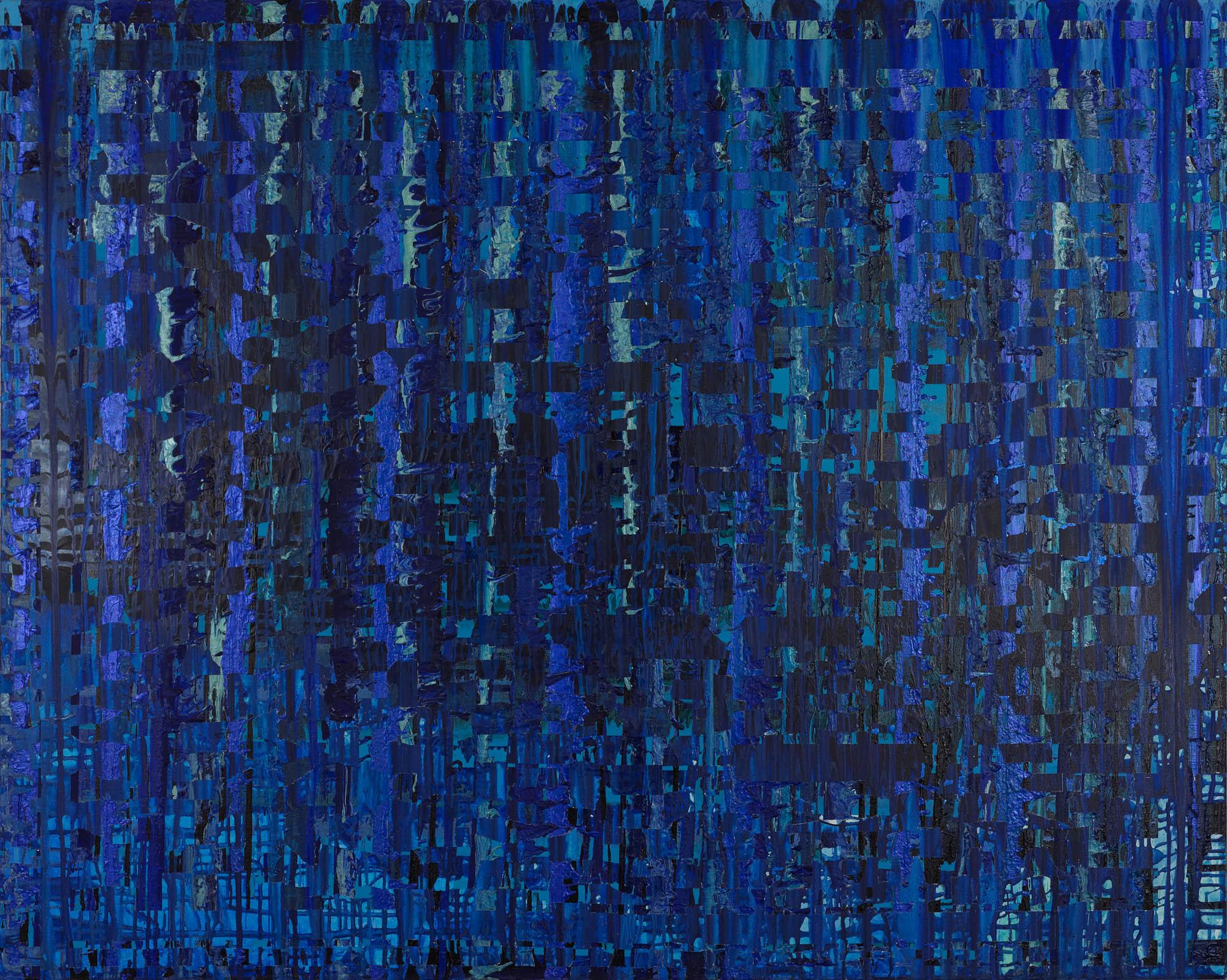 "Hubble Deep Field, 2011, acrylic on canvas, 48"" x 60"""
